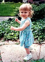 Matt's sister Sarah Jane, age 2